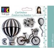Carimbo Emborrachado 10x15cm - Romântico - By Ivana Madi - Toke e Crie