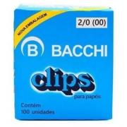 Clips Galvanizado Aço 2/0 c/100 unidades - 08060 - Bachhi