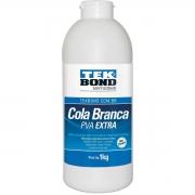 Cola de alta resistência - Branca - Pva Extra - 1kg - Tekbond