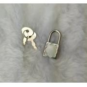 Fecho para diário (cadeado) A61/23  - c/ 1 cadeado e 2 chaves