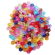 Florzinha Passante de acrílico 11x10mm colorido c/ 50 unidades