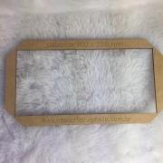 Gabarito MDF tipo moldura -  10x21cm - Deskplanner - Encadernação e Cartonagem