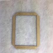 Gabarito MDF tipo moldura -  11x15,5cm - Encadernação e Cartonagem