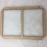 Gabarito MDF tipo moldura dupla -  11x15,5cm - Encadernação e Cartonagem