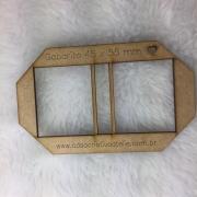 Gabarito MDF tipo moldura dupla com lombada - 4,5x5,5cm - Especial para post it