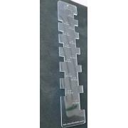 Gabarito Wire-o em acrílico cristal transparente 3mm