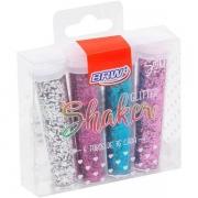 Glitter Poliester Shaket Hexagonal 7g 4 cores Blister GL0503- BRW