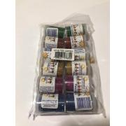 Glitter PVC - Kit com 6 cores sortidas - 12 potes com 3g cada - Real Seda