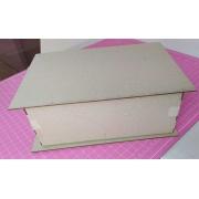 Kit Cartonagem - Caixa Livro 19,5x10x11 - 5 unidades