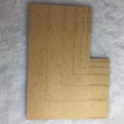 Kit Esquadros - MDF - 6 peças - Encadernação e Cartonagem