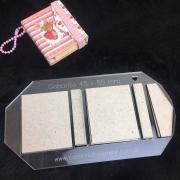Kit Post it Envelope (Gabarito Acrílico + 12 conjuntos de Papelão Cinza Tipo Holler) - 4,5 x 5,5 cm
