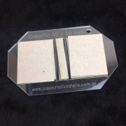 Kit Post it (Gabarito Acrílico + 12 conjuntos de Papelão Cinza Tipo Holler) - 4,5 x 5,5 cm