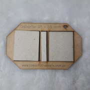 Kit Post it (Gabarito MDF + 12 conjuntos de Papelão Cinza Tipo Holler) - 4,5 x 5,5 cm