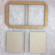 Kit Post it (Gabarito MDF + 12 conjuntos de Papelão Cinza Tipo Holler) - 8,5 x 11,0 cm
