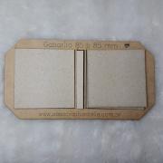 Kit Post it (Gabarito MDF + 12 conjuntos de Papelão Cinza Tipo Holler) - 8,5 x 8,5 cm