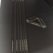 Kit Réguas Gabarito Cartonagem Encadernação Fio De Cabelo em Acrílico Transparente