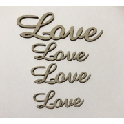 Love 02 - Chipboard - Kit com 4 unidades