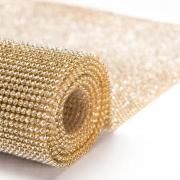 Manta de Strass Ouro com Crystal 45cm