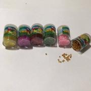 Miçanga Pequena (sortidas) - Pacote c/ 6 unidades - 7g cada - Real Seda