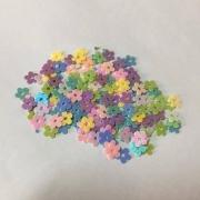 Misturinha para Shaker Box Casa Criativa Paetê Flor Colorido 05MM - 15G
