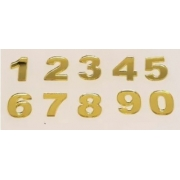 Números em Acrílico 7cm com 5 unidades