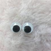 Olho móvel para artesanato 15mm c/ 10 unidades