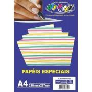 Papel Estampado Listras Coloridas tamanho A4 180g c/ 10 folhas - Off Paper