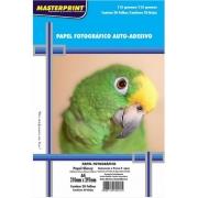 Papel Fotográfico 115 gr A4 Auto Adesivo - Pacote com 20 folhas - Masterprint