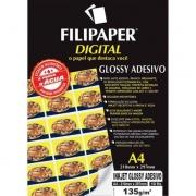 Papel fotografico injet a4 glossy adesivo 135g pct c/10 2554 - FILIPERSON