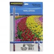Papel Fotográfico Inkjet A4 Matte Adesivo 108g - Pacote com 20 folhas - Masterprint