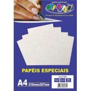 Papel Glitter tamanho A4 180g c/ 5 folhas - Off Paper