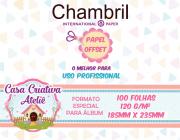 Papel offset Chambril 120g/m² - 23,5x18,5cm - 100 folhas