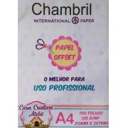 Papel offset Chambril 120g/m² - A4 - 100 folhas