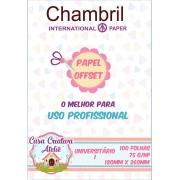 Papel offset Chambril 75g/m² -  18x26cm Universitário 01 - 100 folhas