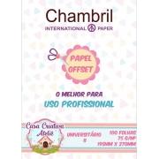Papel offset Chambril 75g/m² - 19,5x27cm Universitário 02 - 100 folhas