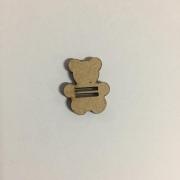Passante para Elástico - Animais - 2cm - Urso (5 unidades) em MDF