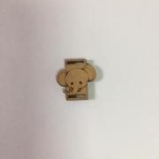 Passante para Elástico - Elefante - 2cm (5 unidades) em MDF