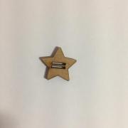Passante para Elástico - Estrela - 2cm (5 unidades) em MDF