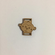 Passante para Elástico - Macaco - 2cm (5 unidades) em MDF