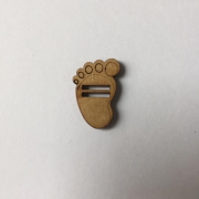 Passante para Elástico - Pezinho - 2cm (5 unidades) em MDF