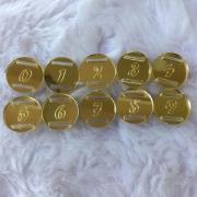 Passante para Elástico Redondo Contorno - 1,5cm - Numeros (5 unidades)