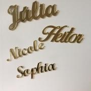 Personalização de Nomes em Acrílico com 5 unidades
