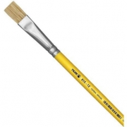 Pincel Artesanal Chato 815 N°12 - Amarelo - Tigre