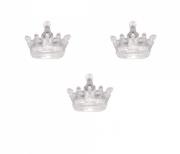 Pingente Acrílico Coroa Transparente c/ 10 unidades