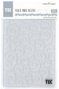 Placa para Relevo 2D Elegance - 107x139mm - Arabescos - Toke e Crie
