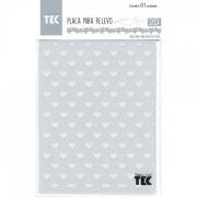 Placa para Relevo 2D Elegance - 127x177mm - Corações - Toke e Crie