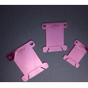 Plaquinha meada c/3 unidades - Jojo's Scrapbook