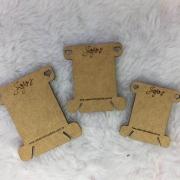Plaquinha meada c/3 unidades - Jojo's Scrapbook - MDF