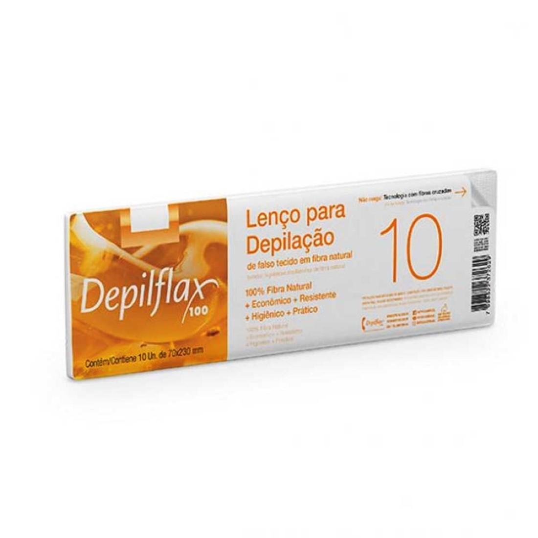 10 Lenços Para Depilação em Fibra Natural - Depilflax