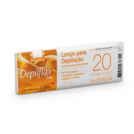 20 Lenços Para Depilação em Fibra Natural - Depilflax